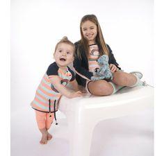 Dress like Flo Baby tuniek Tindra-tje aqua/fluo Kids Department = Dé webshop met hippe kinderkleding & accessoires voor baby's en kinderen v...