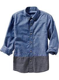 Boys Colorblocked Shirts