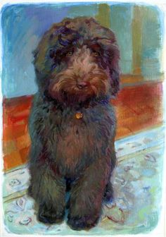 """""""Augie"""" oil on paper"""