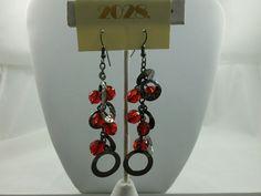 Fashion Jewelry Earrings 1928 Jewelry Co.- Red Crystal Beads - drop #1928JewelryCompany #DropDangle $9.89