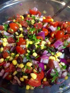 Black Bean and Corn Salsa | The best party dip! Perfect for tailgating or a day by the pool! Enjoy with your favorite tortilla chips. -- Midwest at Its Best