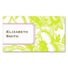 Luxe Floral Green Business Card. Make your own business card with this great design. All you need is to add your info to this template. Click the image to try it out!