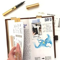 """913 Likes, 7 Comments - Nadia (@lettersinnovember) on Instagram: """"287/366: Slowly but surely getting through my travel notebook. You'll be able to see all my…"""""""
