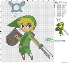 Link and Ciela (The legend of Zelda) cross stitch pattern - 2745x2480 - 2530888