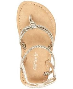 ad6c0885 Carter's Little Girls' or Toddler Girls' Braided Sandals & Reviews - Kids'  Shoes - Kids - Macy's