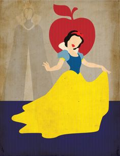 Snow White Minimal Art Print