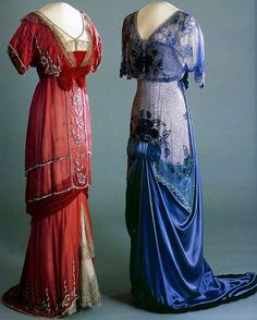 """""""Evening gowns, worn by Queen Maud of Norway, ca 1910-1913. National Museum of Art, Architecture, and Design Oslo """""""