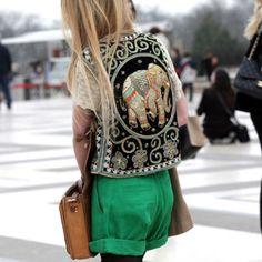 Bohemian look i want that vest!