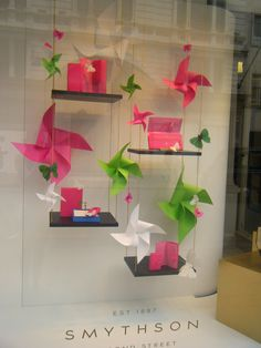 Our newly installed window display features the new Magenta collection against a vibrant backdrop of paper windmills and butterflies…
