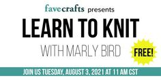 Looking to get your friends hooked on knitting? Tell them to join our FREE introductory knitting class this Tuesday, 8/3 at 11am CDT! Sign up here: Web Conferencing, Bird Free, Learn How To Knit, You Are Invited, New Hobbies, Learning, Knitting Tutorials, Tuesday, Join