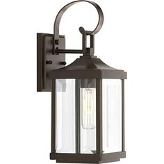 Progress Lighting Gibbes Street Single Light Wide Outdoor Wall Sconce with Clear Beveled Glass Panels, antique Bronze Gas Lanterns, Outdoor Hanging Lanterns, Outdoor Wall Lantern, Outdoor Wall Sconce, Outdoor Wall Lighting, Outdoor Walls, Lighting Ideas, Club Lighting, Kitchen Lighting