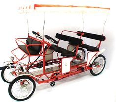 4 Wheel Bicycles -Adult Tricycles Designed For Riding 2 People, 4 People And More.