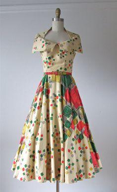 1950s dress / Heartbreak Hotel / 50s halter dress by Dronning