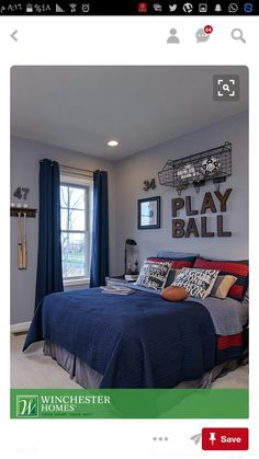 50 Stunning Blue Bedroom Decorating Ideas To Bring Perfect Accent. The blue bedroom decorating ideas may be used not just to produce the bedroom attractive but the ideal location for getting a great n. Blue Bedroom Decor, Boys Room Decor, Bedroom Black, Modern Bedroom, Bedroom Boys, Diy Bedroom, Design Bedroom, Kids Room, Boy Sports Bedroom