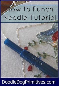 How to Punch Needle …