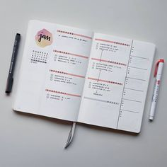 Next week is already preplanned and ready to go I hope the spreads are not becoming boring. Bullet Journal Banner, Bullet Journal Notes, Bullet Journal Junkies, Bullet Journal Spread, Bullet Journal Ideas Pages, Bullet Journal Layout, My Journal, Bujo, Journal Inspiration