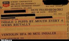 You had one job, Pharmacist, just one job... its only funny because I work in pulmonary medicine