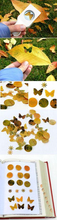 Decorative leaf punch art…