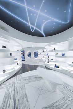 Dutch architecture firm MVSA Architects turned to HI-MACS® to develop one the new flagship store for Shoebaloo