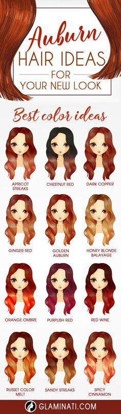 Nouvelle Tendance Coiffures Pour Femme  2017 / 2018   Les cheveux Auburn sont intemporels et super sexy et chic. Découvrez notre galerie d'images f