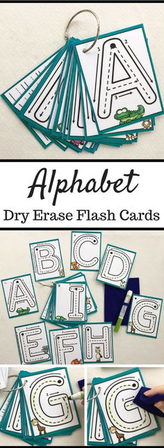Uppercase Little Letters Clip Cards Dry erase alphabet flash cards laminated trace busy bags formations key ring learn to write Preschool Literacy, Preschool Letters, Letter Activities, In Kindergarten, Alphabet Activities Kindergarten, Preschool Learning Centers, Kindergarten Flash Cards, Home School Preschool, Letter Recognition Kindergarten