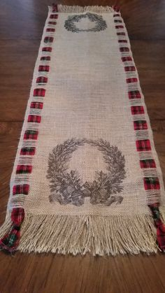 Burlap Christmas Runner.. by TheElegantClutter on Etsy.$49.00