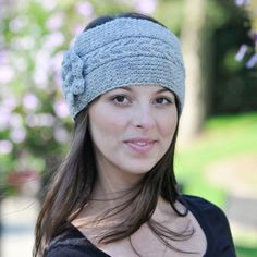 Cabled Headband in Cascade 220 Sport - Discover more Patterns by Cascade Yarns at LoveCrafts. From knitting & crochet yarn and patterns to embroidery & cross stitch supplies! Knit Headband Pattern, Knitted Headband, Knitted Hats, Knitting Patterns Free, Free Knitting, Crochet Patterns, Free Pattern, Charity Knitting, Baby Knitting