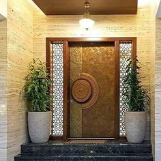 8 Single Front Door Designs for Indian Homes & Apartments With a lot of styles out there, the search for the perfect entrance can get tough. And so, here are 8 single front door designs, each beautifully crafted. House Main Door Design, Main Entrance Door Design, Wooden Main Door Design, Home Entrance Decor, Door Design Interior, House Entrance, Office Entrance, Entryway Ideas, Home Gate Design