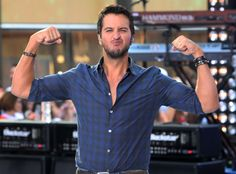 Luke Bryan strikes a pose after his Today show performance. This country star can crash our party any day!