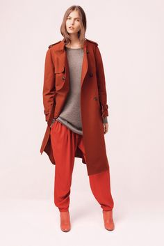 see by chloe red trench