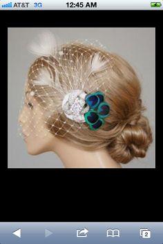 Peacock head dress