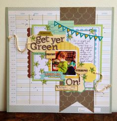 Get yer Green on, by Cassie Cyr, using the NoelMignon Study Hall kit