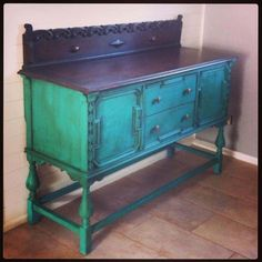 painted annie sloan furniture | Annie Sloan Chalk Paint™️ in Florence with Dark ... | Furniture ...
