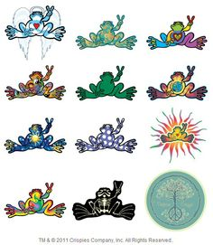"""Made in USA Peace Frogs Dolphin Frog Sticker High Quality Vinyl 6/"""" x 3/"""""""