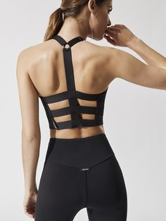 0c4b384af2 175 Axial Bustier in Black by Michi from Carbon38 Workout Wear