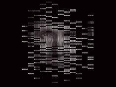 """Kunstprojekt Textportrait """"MISSING"""" - Filmstill von Ralph Ueltzhoeffer."""