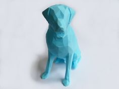 Low Poly Labrador (Dog Statue) by 3DWP http://thingiverse.com/thing:446787