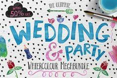 Wedding & Party Watercolour Bundle