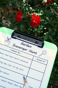 Garden Scavenger Hunt-Free Printable Spring Activity for Kids
