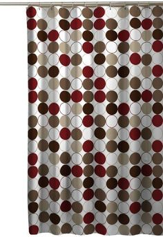 Nu Cirque Shower Curtain, Red - casa.com