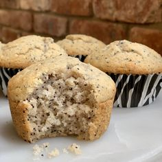 A breakfast staple lemon poppy seed muffins are a complete classic Light and fluffy yet filling and satisfying these muffins are full of flavor Lightly lemon in taste the. Gourmet Recipes, Gluten Free Recipes, Whole Food Recipes, Cooking Recipes, Sin Gluten, Cassava Flour Recipes, Paleo Flour, Paleo Bread, Breakfast Bites