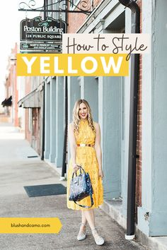 Ok, so yellow is a super trendy color but how do you wear it? I have all the styling tips and tricks to make yellow the perfect spring and summer season color! You'll just exude happiness, sunshine and confidence in this chic outfit! #yellowfashion #howtostyle #trendycolor #summerfashion #springstyling