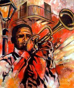 Blues on Bourbon Street Fine Art Print - Diane Millsap