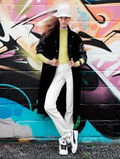 Stella McCartney coat, J.W. Anderson sweater, Calvin Klein Collection pants: Varsity-Inspired Fashion: Feature: teenvogue.com