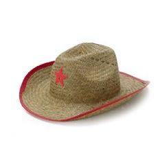 Kids' Straw Cowboy Hat with Pink Sheriff Badge $14 for 8