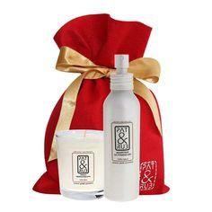 Pachnący #duet: ekologiczna świeca zapachowa oraz #eko #pefumy do pomieszczeń. Aromat jest oryginalną kompozycją zapachową z naturalnych olejków eterycznych, produkty w 100% ekologiczne, w ślicznym filcowym opakowaniu. Wspaniały i pachnący #prezent!