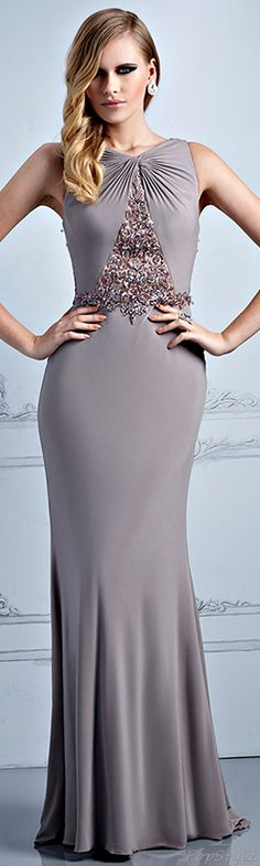 Terani Couture Taupe Dress