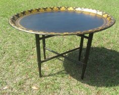 BUTLER TRAY STAND, Serving Tray, Metal Tray Table, French Decor,tole Tray