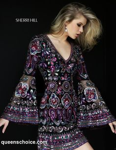 76923e384b Sherri Hill 50569 Cocktail Dress with Bell Sleeves · Pageant DressesDance DressesHomecoming  DressesProm GownsParty DressesEvening ...
