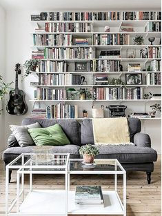 33 Awesome Bookshelves Decorating Ideas Best For Your Living Room - - 33 Awesom. - 33 Awesome Bookshelves Decorating Ideas Best For Your Living Room - - 33 Awesome Bookshelves Decorating Ideas Best For Your Living Room - Bookshelves In Living Room, Cool Bookshelves, Cozy Living Rooms, Home Decor Bedroom, Interior Design Living Room, Home And Living, Living Room Decor, Bookshelf Ideas, Bookshelf Styling